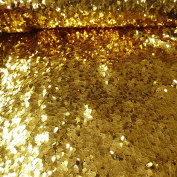 Sequins Fabric Loose Gold 1.3 m wide