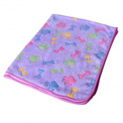 Kelaina 1 pc Bone Pattern Warm Pet Mat Fleece Blanket Bed Cushion For Cat Dog Puppy