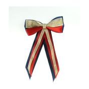 Showquest Hair Bow One Size navy/red/gold