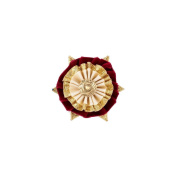 Showquest Boston Button Hole One Size burgundy/cream/gold