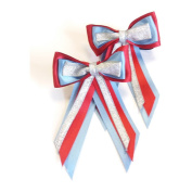 Showquest Piggy Bow One Size red/mid blue/silver