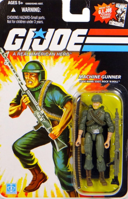 G.I. Joe Sgt Rock 'n 'Roll Cartoon Series Machine Gunner Code Name 25th Anniversay Actionfigure 2008 by Hasbro