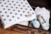 Kraft Kids Travel Change Mat (Small Grey Stars On White Waterproof