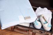 Kraft Small Shape Kids Travel Change Mat (Light Blue on White Waterproof