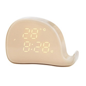 yipinco7285 Magnetic LED Alarm Clock Whale Shape Date Temperature Snooze Mode for Kid's Room Table Clock