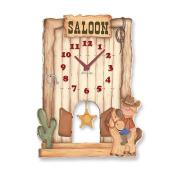 "Aracne Italy ""Pendulum COWBOY Clock"" 24x32 cm"