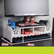 Freestanding Book Shelf / Desk Top Organisation Computer Monitor Racks LCD Screen Brackets Desktop Keyboard Storage Dual-storey Base I 49 * 20 * 13cm Base