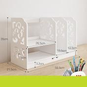 Freestanding Book Shelf / Desk Top Organisation Minimalist Modern Bookshelves Desk Shelves Racks Q 60 * 35 * 21cm Rack