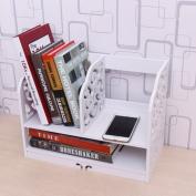 Freestanding Book Shelf / Desk Top Organisation Computer Desk Desk Summary Little Bookshelf Desk Cartridge Organise Rack B 40 * 30 * 21cm