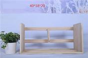 Freestanding Book Shelf / Desk Top Organisation Wooden Table Little Bookshelf Desktop Wooden Shelving Rack C 40 * 18 * 20cm