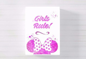 girls rule minnie nursery a3 canvas picture nursery gift watercolour paint splatter ready to hang