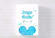 boys rule mickey nursery a3 canvas picture nursery gift watercolour paint splatter ready to hang
