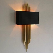 Ambient Light Wall Sconces 3 E14 E12 Simple Modern/Contemporary Electroplate For , black