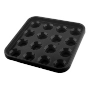 Plastic Square 16 Compartments Billiard Pool Ball Carrying Case Holder Black