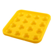 Plastic Square 16 Compartments Billiard Pool Ball Carrying Case Holder Yellow