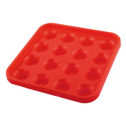Plastic Square 16 Compartments Billiard Pool Ball Carrying Case Holder Red