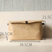 Madaye Storage box linen square clothes storage box cotton and linen retro folding environmental covered buckle covered storage box