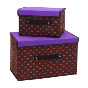 Madaye Storage box covered with non - woven storage box creative deduction storage box two sets of finishing boxes clothing storage box