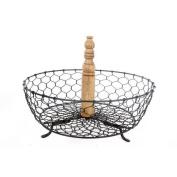 Wooden Centre Wired Basket (30 x 15cm)