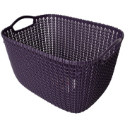 Curver Knit Collection Universal Basket Knit 19L Purple with Handles