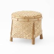 Black Velvet Studio Basket Hanoi Natural colour Twisted design, light and fresh, with lid Bamboo 23 x 25 x 25 cm