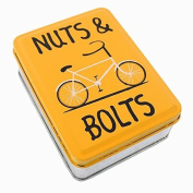 On Yer Bike - Nuts & Bolts Small Metal Storage Tin - Factory Seconds