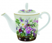 Easy Life Teapot Porcelain Multi-Coloured 21.5 x 14.5 x 16 cm