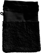 Wash Glove With Your Text or Name 21 x 16 cm/Colour Black