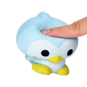 Hotsellhome 9cm Squishies Cute Penguin Cartoon Scented Squishy Slow Rising Squeeze Toy Charm Gift
