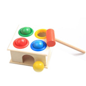 ZREAL Children Early Learning Educational Toys Baby Hammering Wooden Ball Hammer Box Geometric Blocks Kids Newborn Toy Gifts
