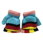 Kolylong Kids Winter Gloves for 1-5years, Cute Thicken Patchwork Hot Girls Boys Warm Gloves
