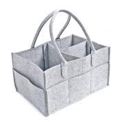 Jiyaru Baby Nappy Caddy Nursery Wipes Storage Bag Portable Basket Nappy Organiser