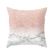 squarex Geometric Marble Texture Throw Pillow Case CuUshion Cover Sofa Home Decor
