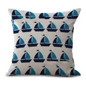 Cushion Cover 2pcs Does Not Contain Core Pillow Car Decoration Dolphin Geometry Printing Cotton Sofa Bedroom Decoration,E