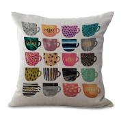 Cushion Cover 2pcs Does Not Contain Core Pillowcase Nordic Creative Geometric Pillowcase Cotton Sofa Home Bay Window Decoration,B