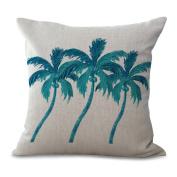 Pillowcase 2pcs Does Not Contain Core Cushion Cover Beach Coco Cotton Sofa Cushion Home Decoration Comfort Ease,D