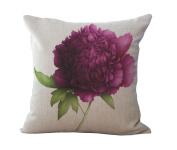 Cushion Pillowcase 2pcs Does Not Contain Core Flowers Small Fresh Cotton Pillowcase Sofa Office Car Cushion Cover,G