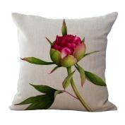 Cushion Pillowcase 2pcs Does Not Contain Core Flowers Small Fresh Cotton Pillowcase Sofa Office Car Cushion Cover,B