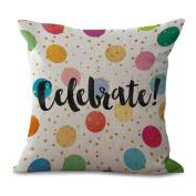 Pillowcase 2pcs Letters Pillowcase Printing Car Sofa Decoration Cotton Does Not Contain Core,D