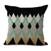 Cushion Covers 2pcs Does Not Contain Core Pillowcase Back Pillow Nordic Creative Watercolour Geometry Cotton Sofa Decoration,B