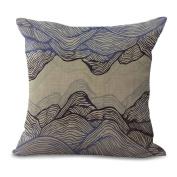 Cushion Pillowcase 2pcs Does Not Contain Core Simple Art Pillowcase Printing Cotton Car Sofa,B