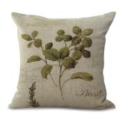 Cushion Cover 2pcs Does Not Contain Core Pillowcase Bedroom Vintage Print Nap Lumbar Cushion Cotton Sofa Cushion,B