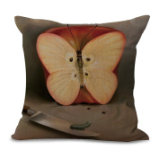 Cushion Cover 2pcs Does Not Contain Core Pillowcase Vintage Anime Print Cotton Sofa Pillow Bedroom Living Room Car,C