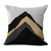 Cushion Cover 2pcs Does Not Contain Core Nordic Creative Pillowcase Geometric Stitching Cotton Sofa Sofa Backrest Decor,F