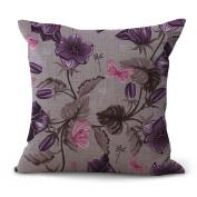 Cushion Cover 2pcs Does Not Contain Core Vintage Cotton Linen Pillowcase Sofa Cushion Personality Fashion Simple 45 * 45cm,D-OneSize