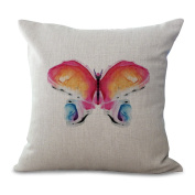 Cushion Cover Pillowcase 2 Pcs Does Not Contain Core Animal Picture Cotton Sofa Bedroom Seat Cushion,F