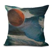 Pillowcase Car Cushion 2pcs Does Not Contain Core Planet Space Personality Creative Home Cotton Sofa Decoration,E