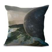 Pillowcase Car Cushion 2pcs Does Not Contain Core Planet Space Personality Creative Home Cotton Sofa Decoration,B