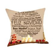 squarex Cotton Linen Christmas Xmas Decor Pillow Case Throw Cushion Cover Home Decor