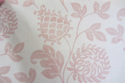 Perdegonia Jacobean Pink Printed Cotton Designer Material Sewing Upholstery Curtain Craft Fabric (Metre)